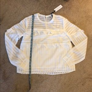 Heartloom transparent detail long sleeve blouse XS